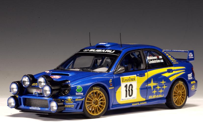 Autoart 2002 Subaru Impreza Wrc T Makinen K Lindstrom