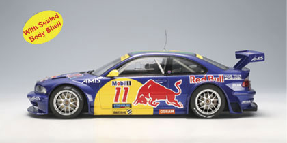 AUTOart: 2005 BMW M3 GTR3 Interlagos Red Bull #11 (80645) in 1:18 scale