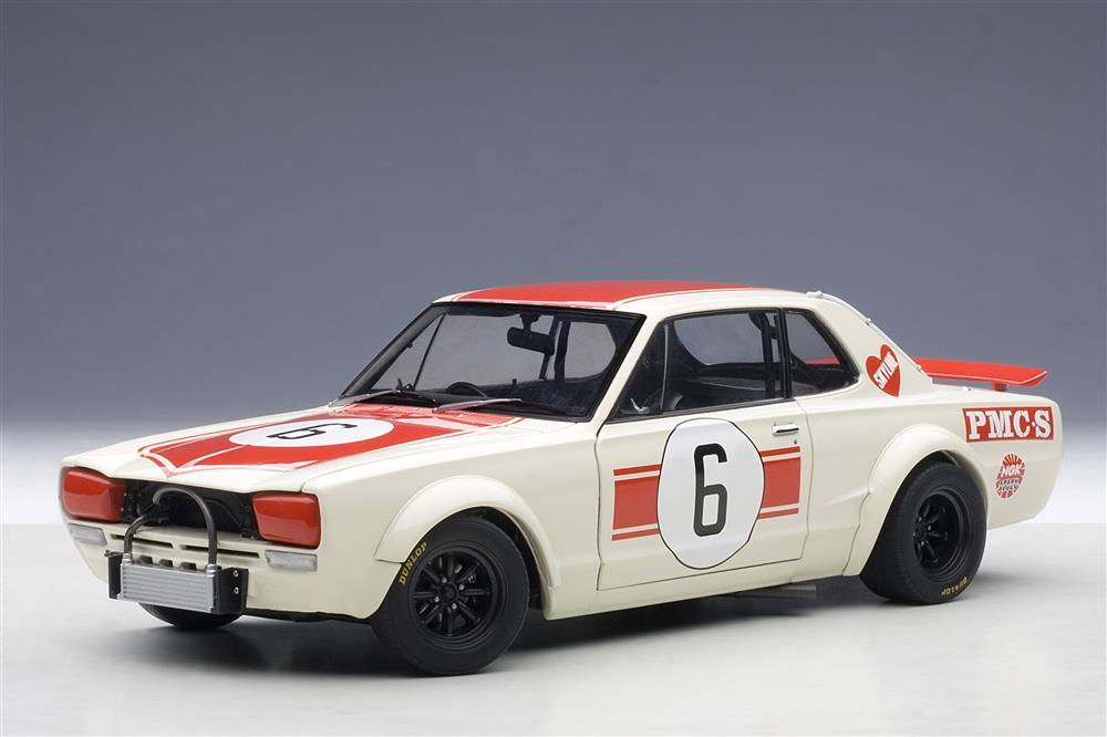 2018 Nissan Gt R >> AUTOart: Nissan Skyline GT-R (KPGC10) Japan GP 1971 Winner #1 (87176) in 1:18 scale - mDiecast