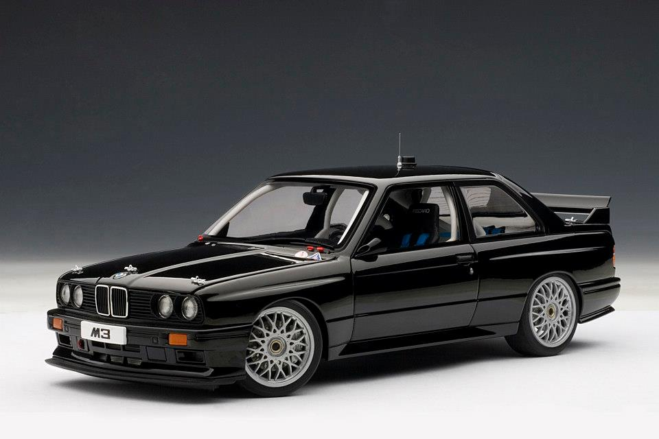 All Brands Of Cars >> AUTOart: BMW M3 (E30) DTM Plain Body Version - Black (89247) in 1:18 scale - mDiecast