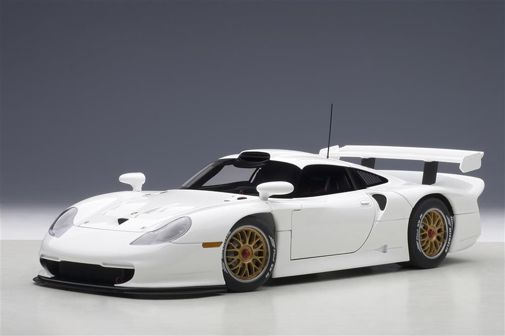 autoart 1997 porsche 911 gt1 plain body version white 89771 in 1 18 scale mdiecast. Black Bedroom Furniture Sets. Home Design Ideas