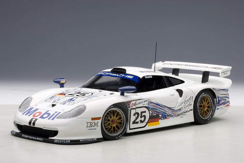 autoart porsche 911 gt1 24hrs le mans 1997 26 89772 in 1 18 scale mdiecast. Black Bedroom Furniture Sets. Home Design Ideas