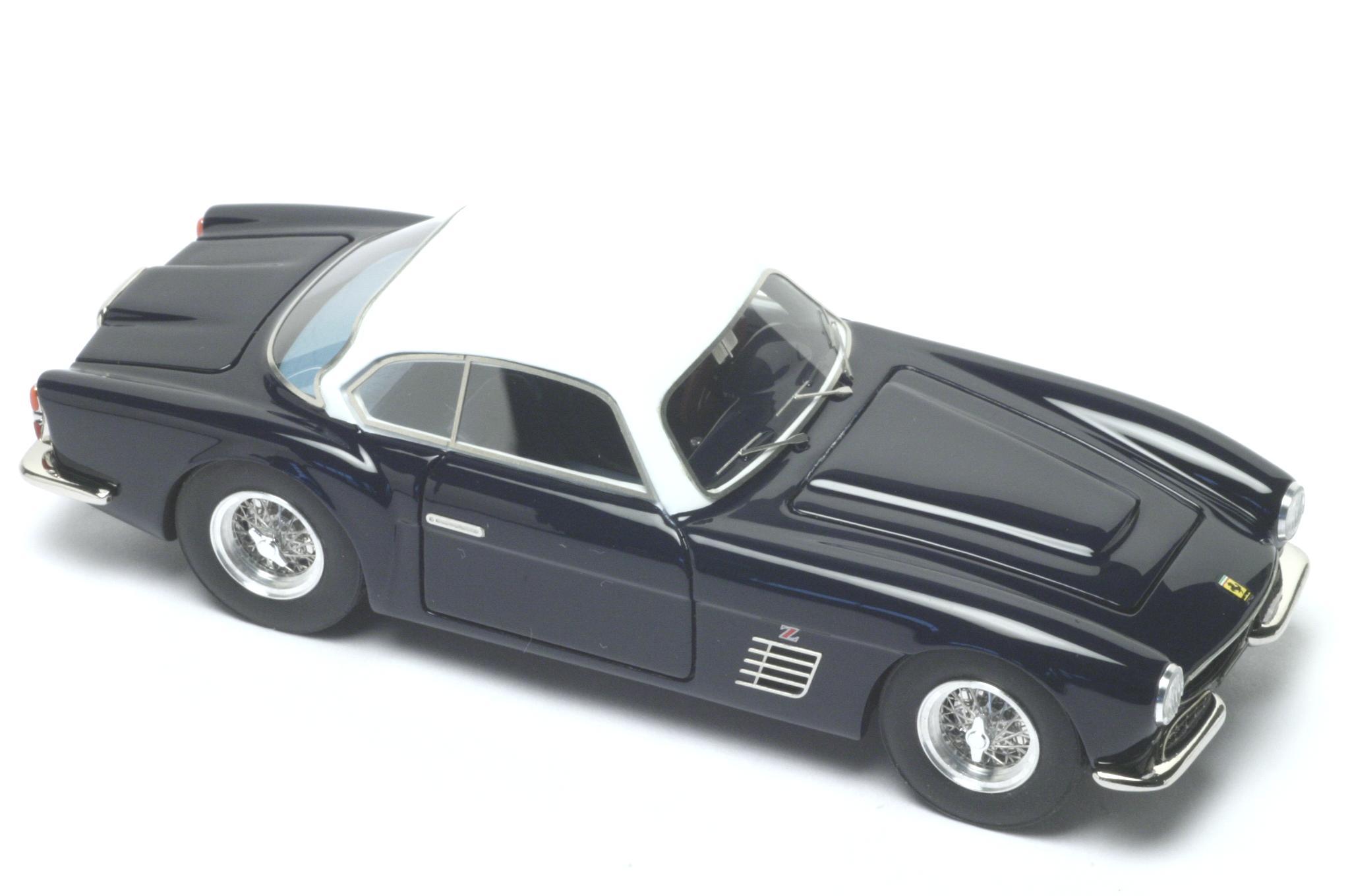 Ferrari Model Cars >> BBR Models: 1957 Ferrari 250 Zagato GT - Blue/ White (BBR80A) in 1:43 scale - mDiecast
