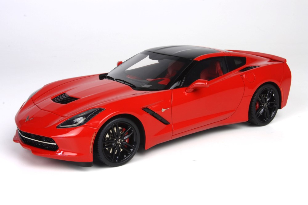 Bbr models 2014 chevrolet corvette stingray torch red p1864c in 1 18 scale mdiecast