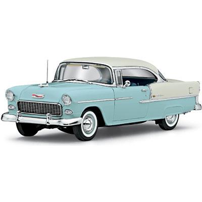 Danbury mint 1955 chevrolet bel air sport coupe skyline blue india ivory 0309 0149 in 1 - 1955 chevrolet belair sport coupe ...