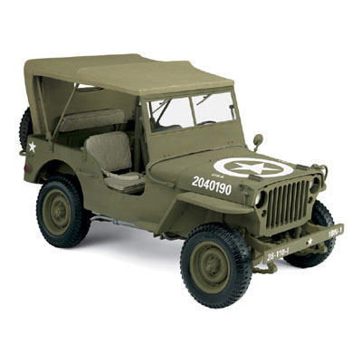 Danbury Mint Jeep Willys Wwii Army Truck Olive 0320