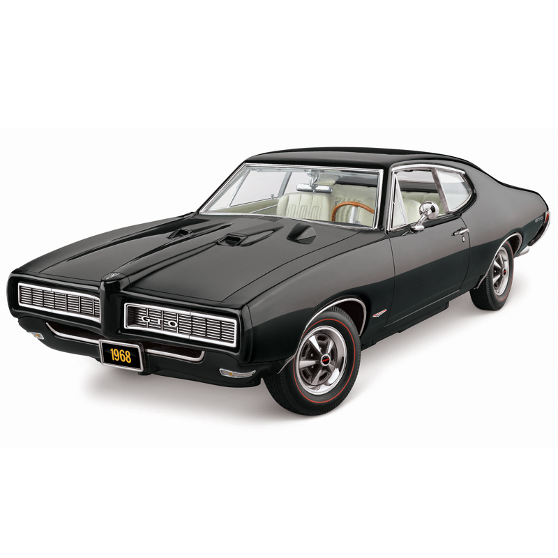 Danbury mint 1968 pontiac gto black 0730 0015 in 1 24 scale mdiecast
