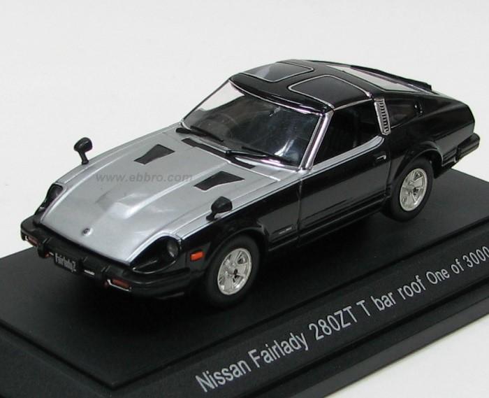 Ebbro 1980 Nissan Fairlady 280zx Targa Black Silver