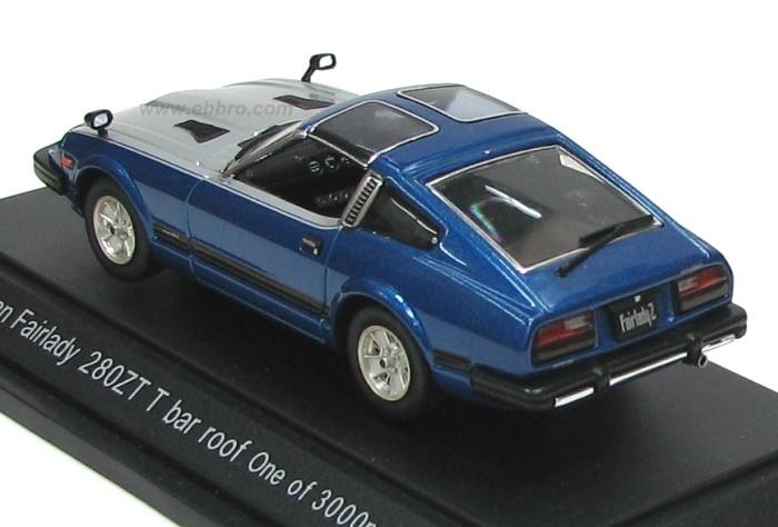 Ebbro 1980 Nissan Fairlady 280zx Targa Blue Silver