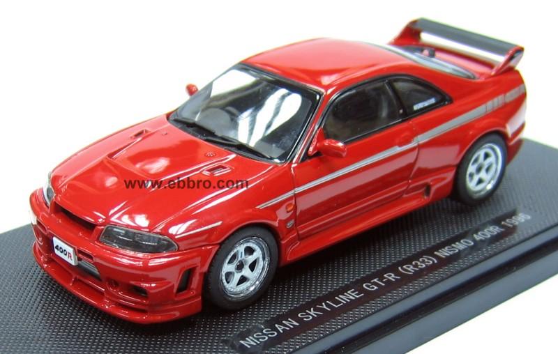 Ebbro: 1996 Nissan Skyline GT-R R33 Nismo 400R - Red ...