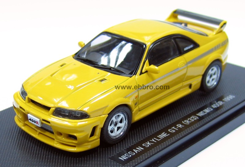Ebbro: 1996 Nissan Skyline GT-R R33 Nismo 400R - Yellow ...
