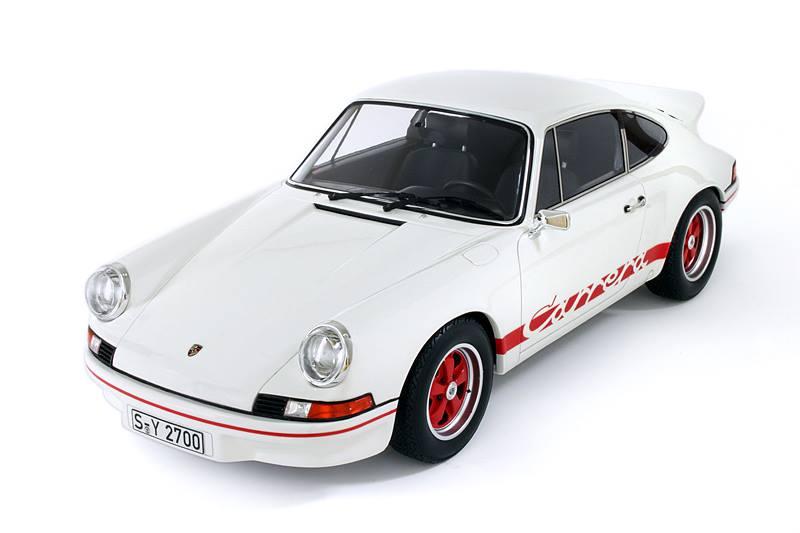 gt spirit  porsche 911 carrera rs 2 7 - white w   red stripe  gt004zm  in 1 12 scale