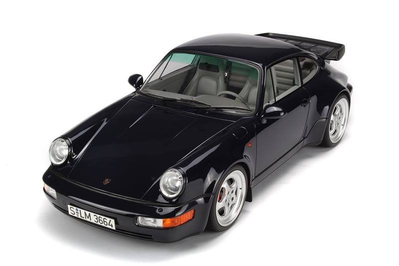 All Brands Of Cars >> GT Spirit: Porsche 911 (964) Turbo 3.6 - Black (GT009ZM) in 1:12 scale - mDiecast