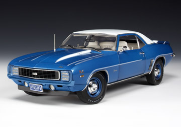 highway 61 1969 chevrolet camaro pub zl1 copo rs lemans blue 50712 in 1 18 scale mdiecast. Black Bedroom Furniture Sets. Home Design Ideas