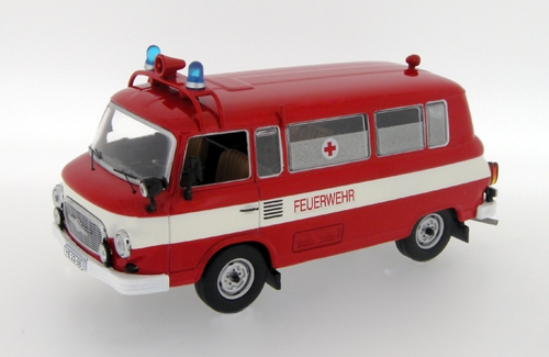 IST Models: 1970 Barkas B1000 'Feuerwher' - Red with White Stripe (IST080) in 1:43 scale