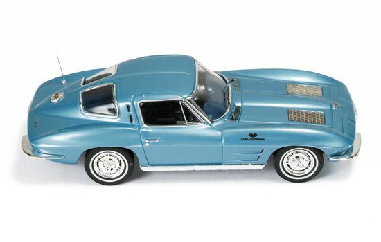 ixo 1963 chevrolet corvette stingray light metallic blue clc198 in 1 - Corvette Stingray Light Blue