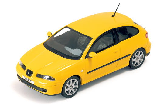 List Of Cars >> IXO: 2002 Seat Ibiza TDI - Yellow (MOC032) in 1:43 scale ...