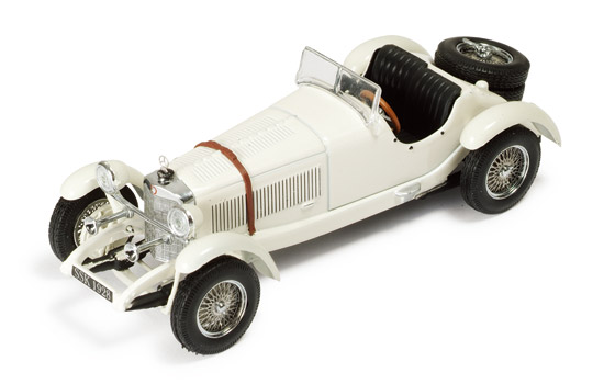 Ixo 1928 mercedes benz ssk white mus016 in 1 43 scale for Mercedes benz ssk 1928 burago