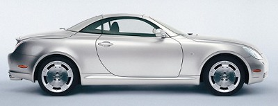 J Collection: Lexus SC430 Closed Convertible LHD - Silver (JC031) in 1:43 scale
