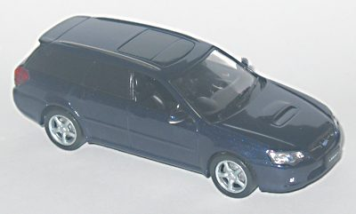 J Collection: Subaru Legacy 3.5GT Wagon LHD - Blue Mica (JC041) in 1:43 scale - mDiecast
