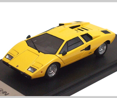kyosho lamborghini countach lp400 yellow 04101y in 1 43 scale mdiecast. Black Bedroom Furniture Sets. Home Design Ideas