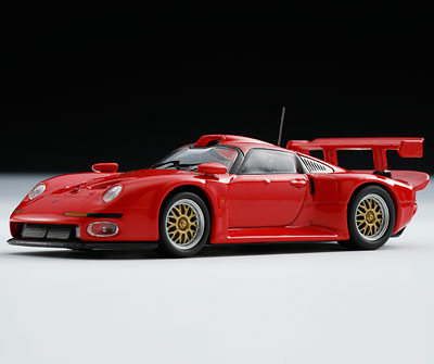 kyosho 1996 porsche 911 gt1 red 06522r in 1 64 scale mdiecast. Black Bedroom Furniture Sets. Home Design Ideas