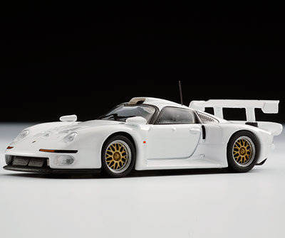 kyosho 1996 porsche 911 gt1 white 06522w in 1 64 scale mdiecast. Black Bedroom Furniture Sets. Home Design Ideas