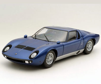 Kyosho Lamborghini Miura P400 Blue Metallic 08312bm In 1 18