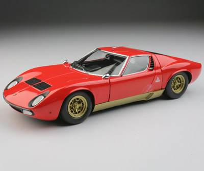Kyosho Lamborghini Miura P400 Sv Light Red 08313lr In 1 18 Scale Mdiecast