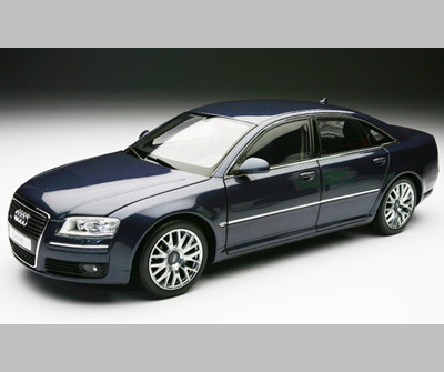 kyosho audi a8 4 2 tdi blue metallic 09211nb in 1 18 scale mdiecast. Black Bedroom Furniture Sets. Home Design Ideas