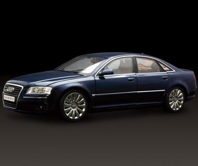 Kyosho Audi A8 W12 Navy Blue 09212nb In 1 18 Scale