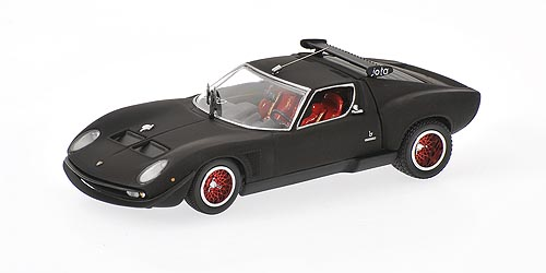Kyosho: Lamborghini Jota - Matt Black (03201MB) in 1:43 scale