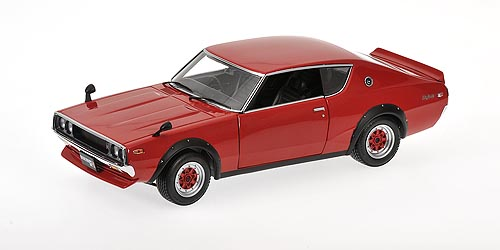 Kyosho: 1972 Nissan Skyline GT-R 2000 KPGC110 Street Sports - Red (08254R) in 1:18 scale