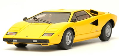 make up lamborghini countach lp400 yellow em 167b in 1 43 scale mdiecast. Black Bedroom Furniture Sets. Home Design Ideas