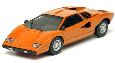 Make Up: Lamborghini Countach LP400 - Orange (EM 167D) in 1:43 scale