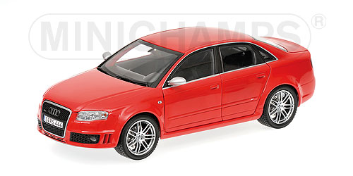 Minichamps: 2006 Audi RS4 - Red Metallic (100 014601) im 1:18 maßstab