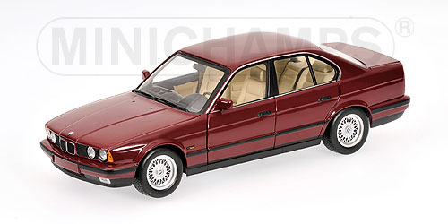 Minichamps: 1988 BMW 535i (E34) - Red (100 024002) in 1:18 scale