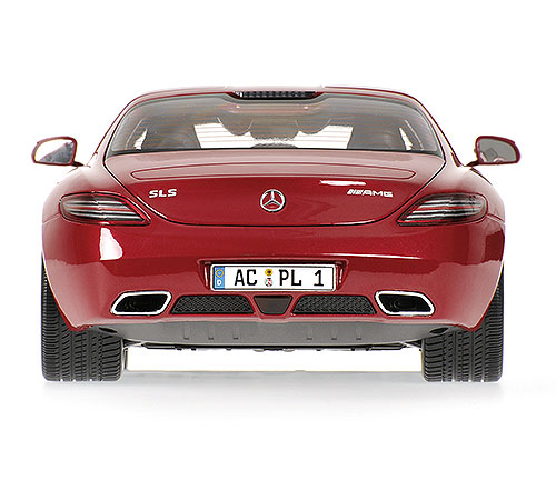 Minichamps: 2010 Mercedes-Benz SLS AMG - Red Metallic (100 039020) in 1:18 scale