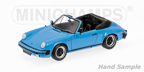 Minichamps: 1983 Porsche 911 Carrera Cabriolet - Blue (100 063032) in 1:18 scale