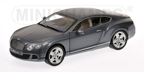 bentley continental gt coupe metallic grey 1/18 by minichamps