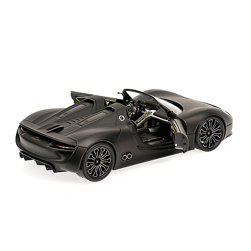 Minichamps: 2010 Porsche 918 Spyder - Matt Black (110 060031) in 1 on 2010 porsche boxster spyder, 2010 audi r8 spyder, 2020 porsche spyder, 2010 hennessey venom gt spyder, 2010 lamborghini gallardo spyder, 2010 ferrari california spyder,