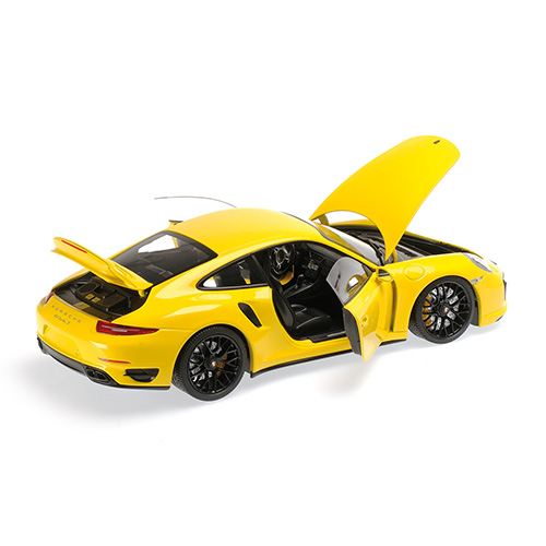 minichamps 2013 porsche 911 turbo s 991 yellow w black wheels