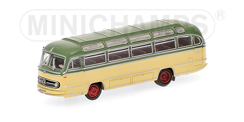 Minichamps: 1957 Mercedes-Benz O321H Bus - Green / Cream (169 031080) in 1:160 scale