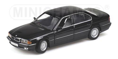 minichamps 1994 bmw 740i e38 black 243 024700 in 1 24 scale mdiecast. Black Bedroom Furniture Sets. Home Design Ideas