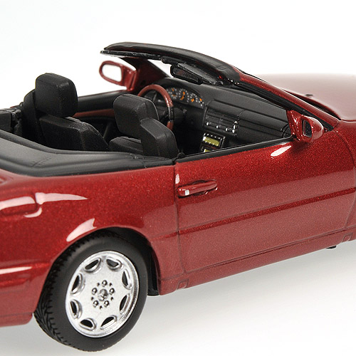 Minichamps: 1999 Mercedes-Benz 500 SL (R129) - Red Metallic (Almadinrot) (400 033032) in 1:43 scale