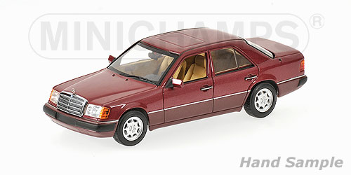 Minichamps: 1991 Mercedes-Benz 230 E (W124) - Red Metallic (400 037001) in 1:43 scale