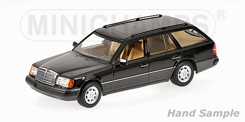 Minichamps: 1990 Mercedes-Benz 300 TE Break (W124) - Black Metallic (400 037011) in 1:43 scale