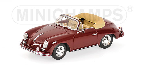Minichamps: 1956 Porsche 356A Cabriolet - Red (400 064231) in 1:43 scale