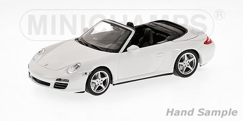 Minichamps: 2008 Porsche 911 (997) Carrera 4S Cabriolet - White (400 066431) in 1:43 scale