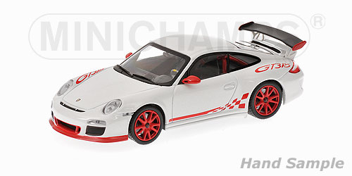 Minichamps: 2009 Porsche 911 GT3 RS - White (400 069100) в 1:43 масштабе